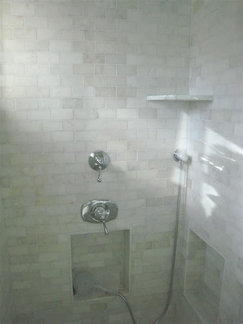 Carrara Marble Tile Bathroom by Carrara Marble Tile Shower Contemporary Bathroom