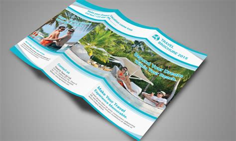 travel brochure template    psd vector eps