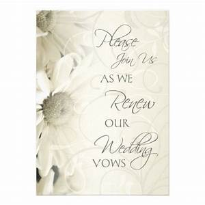 white flowers wedding vow renewal invitations white With wedding renewal invitations cheap