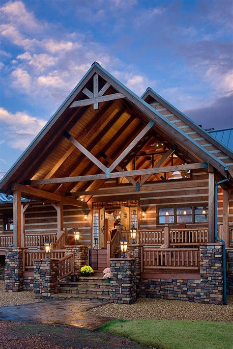 Couple Builds Second Grander Log Home