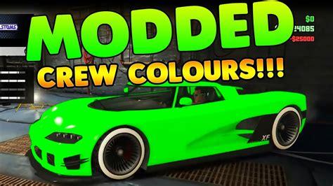 amazing modded crew colours     gta  car colour youtube