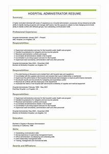 administrative assistant resume skills sample hospital administrator resume