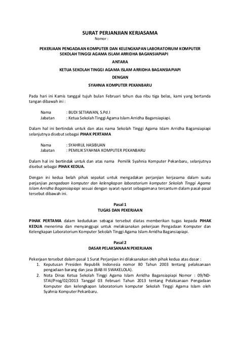 contoh surat pernyataan menjalankan usaha pekerjaan bebas