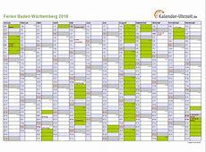 Ferien BadenWürttemberg 2016 Ferienkalender zum Ausdrucken