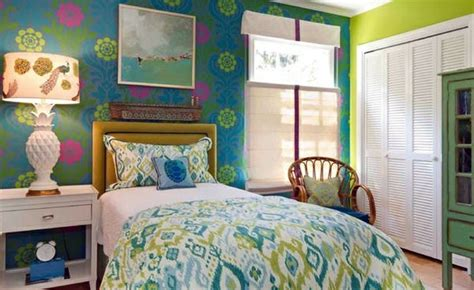 Blue And Bright Lime Green