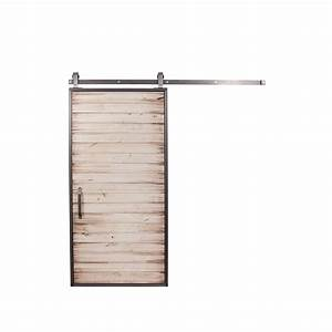 rustica hardware 42 in x 84 in mountain modern white With 42 inch barn door hardware