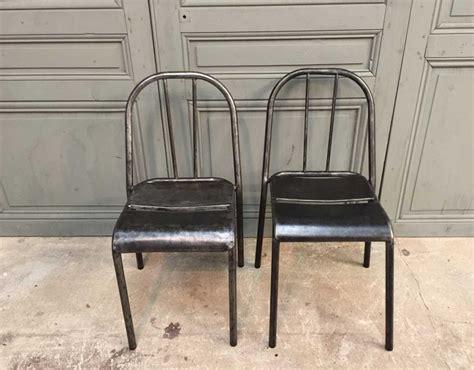 chaise mallet ensemble de 6 chaises métal style mallet