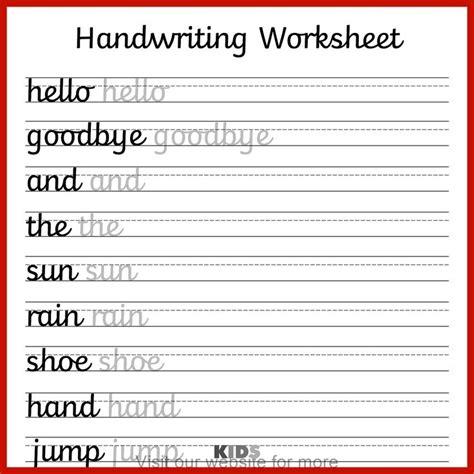 homeschool worksheet  grade   cursive