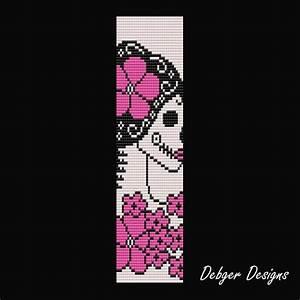Sugar Skull Goddess - Loom Bracelet Cuff Pattern