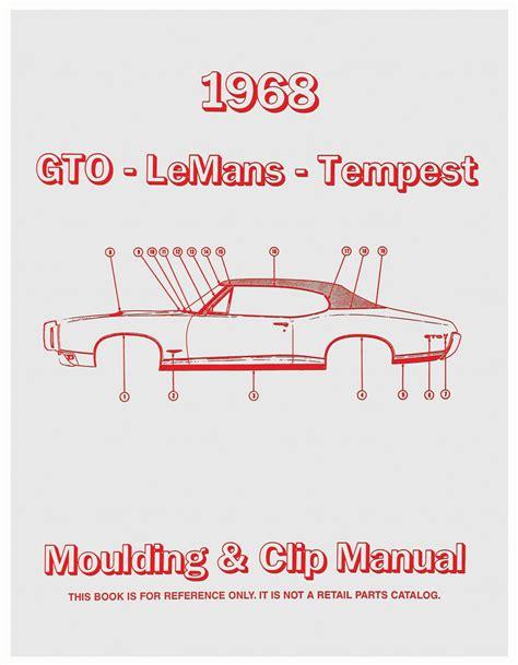 book repair manual 1991 pontiac lemans instrument cluster 1968 gto pontiac molding clip manuals opgi com