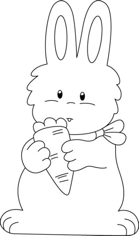 rabbit enjoying carrot coloring pages desenler cizimler