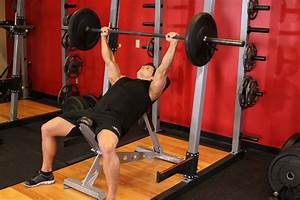 Barbell Incline Bench Press - Medium Grip Exercise Guide ...