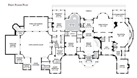 mansion house plans floorplans homes of the rich