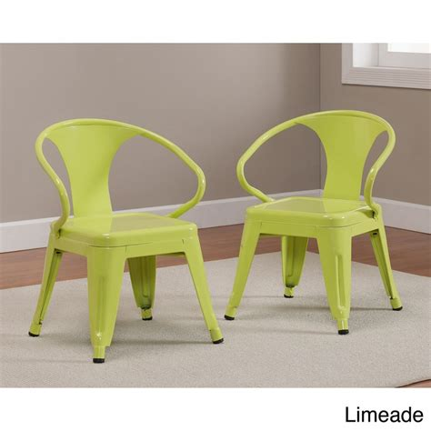 tabouret stacking chairs set of 2 black kid