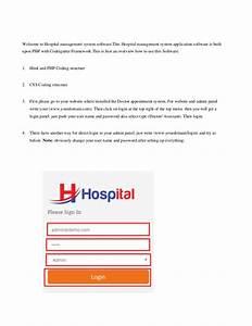 Hospital Management System Software User Guide