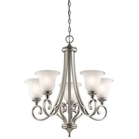modern brushed nickel steel chandelier gt 244 00 satin