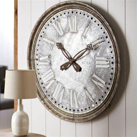 galvanized wall clock iron accents