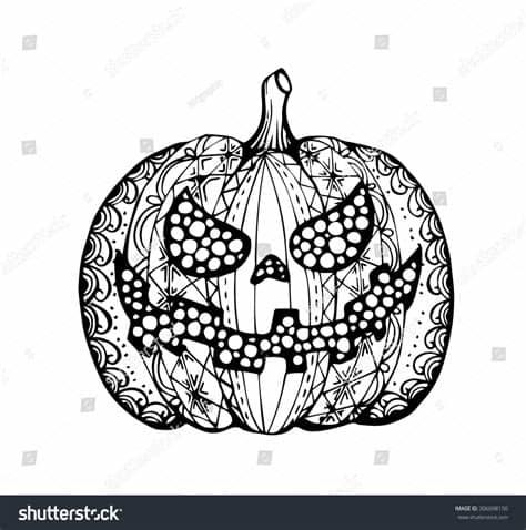 All contents are released under creative commons cc0. Vector Hand Draw Halloween Pumpkin Zentangle Stock Vector ...