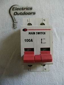 Cgd 100 Amp Double Pole Main Switch Disconnector 230  400v