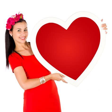 woman holding  heart  stock photo public domain