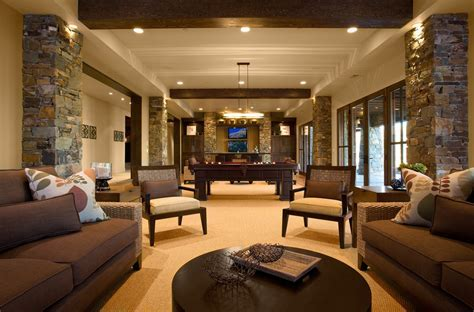 basement color schemes Kitchen Modern with hardwood