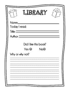 library center worksheet by busy little bees teachers pay teachers