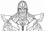 Thanos Coloring Colorir Avengers Infinity War Marvel Fortnite Pintar Printable Desenhos Imprimir Ausmalbilder Vingadores Drawing Line End Guerra Colorear Gauntlet sketch template