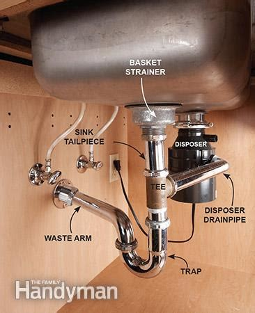 kitchen sink drain pipe replace a sink the family handyman 5737