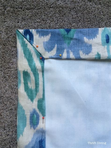 How To Make Drapes With Lining - how to sew lined diy curtains thrift diving