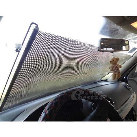 rideau r 233 tractable pare soleil ombre pour vitre lat 233 rale arri 232 re auto ebay