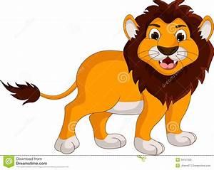 Cute lion cartoon smiling stock illustration. Illustration ...