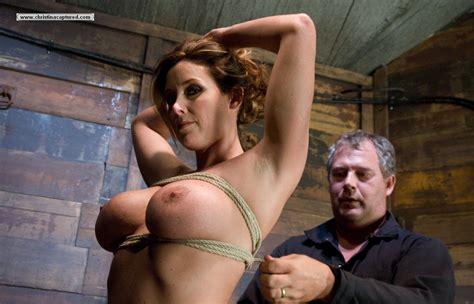 Extreme Bondage Fetish Busty Slave Hog Tied And Finger