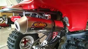 Honda 400ex- Fmf Q4 Vs Stock Exhaust