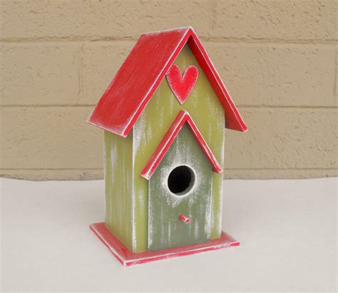 hand painted birdhouse birdhouse decor christmas