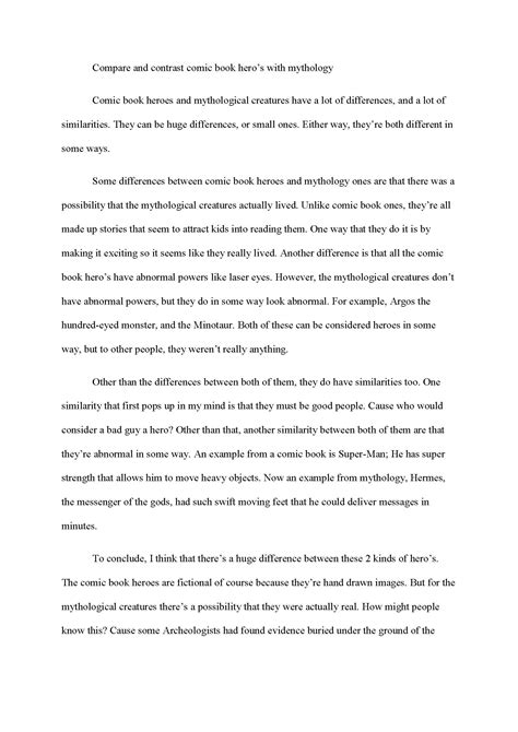 The Paper About Comparison And Contrast by How To Write A Comparison And Contrast Essay Thesis