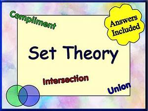 Introducing Set Theory By Happymathematician