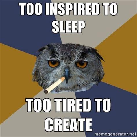 Art Owl Meme - art student owl