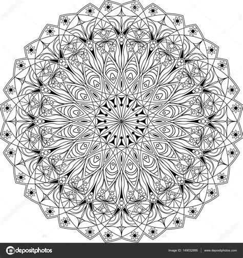 Cirkel Kleurplaten Volwassenen by Cirkel Mandala Volwassen Kleurplaat Stockvector
