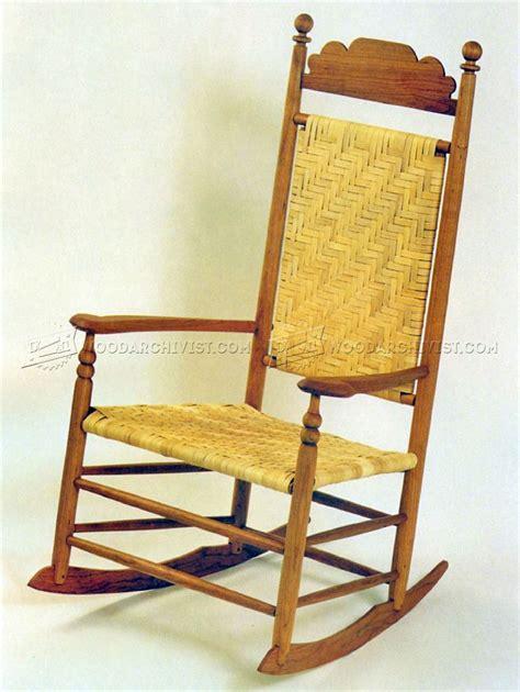 wood rocking chair plans woodarchivist