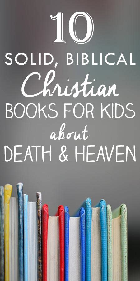 solid biblical christian books  kids  death