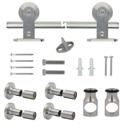Decorative Sliding Barn Door Hardware by Everbilt Stainless Steel Decorative Sliding Door Hardware