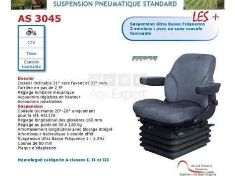 siege pneumatique basse frequence sears as3045 tissu avec console tournante suspension