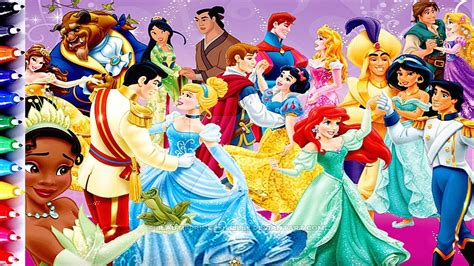 disney princess  prince bell cinderella ariel jasmine mulan coloring pages fun art  kids