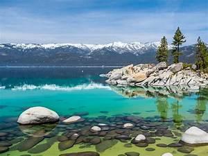 Lake, Tahoe, In, October, Nevada, United, States, Landscape