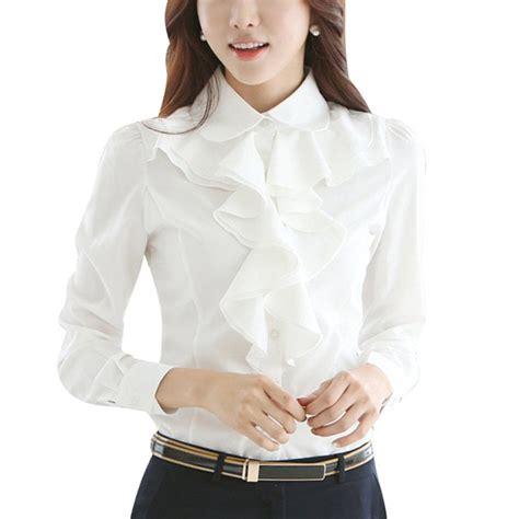 ruffled white blouse s white ruffle blouse clothing