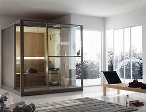 sauna finlandaise avec douche logica sauna by effegibi With sauna exterieur avec douche