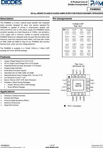 Pam8902 Datasheet   S Manuals Com  Diodes