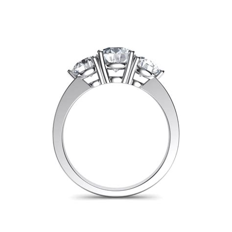 stone  present future trilogy engagement ring