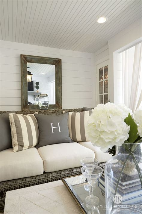 shiplap walls  beadboard ceiling   outdoor living