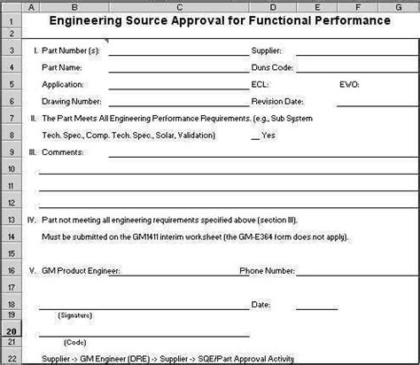 aiag psw form ppap forms in excel compatible with aiag 4th ed